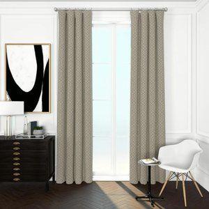 Moroccan Trellis Curtains (Set of 3 Panels) Khaki
